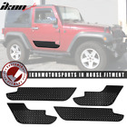 Fits 07 18 Jeep Wrangler JK 2 4 Door Side Body Cladding Trim ABS Black 4pcs
