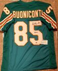 Nick Buoniconti Miami Dolphins Signed Autographed Jersey Leaf Authentics COA