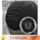 Black Mens Toupee Lace Front Thin Skin Afro Africa American Curly Mens Hairpiece
