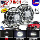 DOT 7inch sealed beam Round LED Headlights Pair Fit Wrangler JK LJ TJ Rubicon