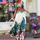 Womens Boho Ladies Cocktail Party Long Maxi Dress Evening Summer Beach Sundress