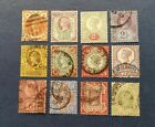 Great Britain Stamps Scott 111 122 Complete set Used and Hinged