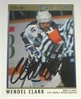 WENDEL CLARK SIGNED O-PEE-CHEE PREMIER TORONTO MAPLE LEAFS CARD AUTOGRAPH AUTO!