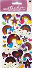 Sticko Dripping Color Scrapbooking Craft Stickers Epoxy Hearts Clouds Rainbows