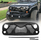 Fits 07 17 Jeep Wrangler Rubicon Sahara Sport JK Front Cobra Grille Guard Insert