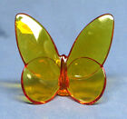 Baccarat Crystal Lucky Butterfly Amber Topaz Mint w Sticker