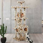 66 Kitten Cat Tree with Paws Pattern Furniture Scratchers Post Pet Play House