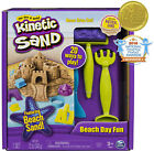 The One and Only Kinetic Sand Beach Day Fun Playset with Castle Molds Tools