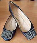 NEW KATE SPADE GLASS Rhinestone Buckle Ballet Flats Shoes SIZE 6M