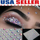 Glitter Face Eye Temporary Tattoo Gems Rhinestone Crystal Stickers Party Makeup