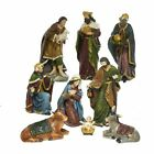 9 Piece Christmas Nativity Scene Figurines Set Decoration 8 Inch N0290 New