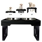 Elevated Dog Dishes Stainless Steel Adjustable Raised Food Feeder Station Bowl