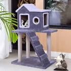 36 Pet Cat Tree Kitten House fluffy Condo w Scratching Posts Climbing Ladder