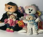 🧸 Beanie Kids Rare Lot of 4 - Pirouette,Patrick,Chanel,Chill The Bear 🧸