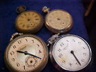 lot of 4 Ingersoll dollar watch pocket watches for parts or repair