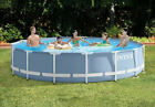Intex 15 x 33 Prism Metal Frame Swimming Pool Set with 530 GPH Pump 28721EH