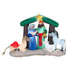 Christmas Airblown Inflatable Nativity Scene Lights Up Yard Decor 65 Wx5 High