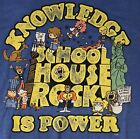 School House Rock Knowledge Is Power Vintage STYLE Mens XL Shirt