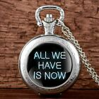 Steampunk Vintage Pocket Watch Chain Pendant Antique Quartz Movement Mens Women