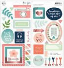 Pinkfresh Studio BE YOU Scrapbooking Chipboard Stickers Icons Frames Arrows NEW