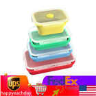 Silicone Lunch Box Bowl Food Container Storage Portable Collapsible Bento 4Box