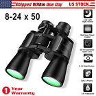 8 24 x 50 Zoom Binoculars Low Light Night Vision Sports Hunting Hiking Birding