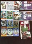 1972 Sunoco NFL Action Stamps Opened Packs 13 Different NRMT