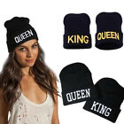 Men Women Winter Beanie Hip Hop Hat Knit Caps King Queen Couple Lovers Warm Cap