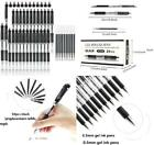 JPSOR 24Pcs Black Retractable Gel Ink Rollerball Pens Fine Point Writing