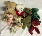 Lot of 8 Bear/Rabbit/Duck Stuffed animals-Russ Berrie Co/TY/The Boyds Collection