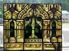 ANTIQUE GOTHIC MAYER OF MUNICH STAINED GLASS WINDOW FROM A CLOSED CHURCH JJ874