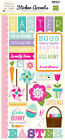 Echo Park Paper HIPPITY HOPPITY EASTER Scrapbook Cardstock Stickers Icons Words