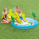 Inflatable Swimming Kids Play Water Sprayer Pool Slide splash Outdoor Backyard