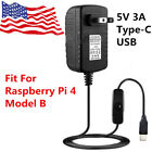 5V 3A Type C USB AC DC Wall Charger Adapter Power Supply Cord For Raspberry Pi 4