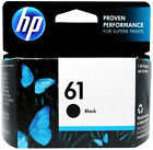 HP 61 Black Ink Cartridge 61 CH561WN NEW GENUINE