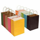 Party Bags Paper Gift Bag With Handle Recyclable Shop Loot Bag 10 Colors