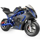 Gas Pocket Bike motorbike Scooter 40cc Epa engine Motorcycle Blue