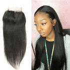US Pre Plucked 4x4 Lace Closure Frontal Ear to Ear Brazilian Virgin Human Hair