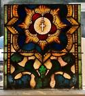 GREAT ANTIQUE MAYER OF MUNICH STAINED GLASS WINDOW FROM A CLOSED CHURCH 1L