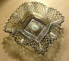 MINT Vintage Iridescent Bohemian Large Glass Dish Ashtray Many Uses COLORFUL 7
