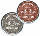 Mustache Wax 2 Pack - Beard & Moustache Wax for Men - Strong Hold Helps Train...