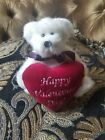 Boyds bear of the month limited edition Valentine's Day sits stands. Collectible