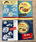 2 Fire King Ovenware Bakeware Casseroles Advertising Plates Brochures ~ Large ~