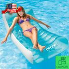 Inflatable Lounge Swimming Pool Floats For Adults Lounger Cool Rafts Beach Relax