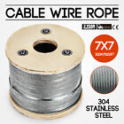 304 Stainless Steel Cable Wire Rope 7x7 Heat Resistance Machinery Petroleum