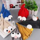 Children Kids Winter Solid Stretchy Long Big Eyes Knit Casual Beanie Hat Ski HO