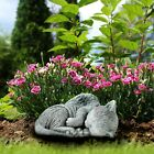 Pet Cat Memorial Sleeping Kitten Statue Angel Wings Grave Marker Keepsake