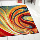 Swirls Contemporary Modern Area Rug Multi Color Abstract Floor Dcor Carpet