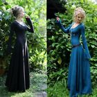 Women Pixie Witch Dresses Long Maxi Costume Cosplay Forest Gypsy Hoodie Festival