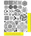 Celtic Design Collection Unmounted Rubber Stamp Set  35 Original Design Stamps